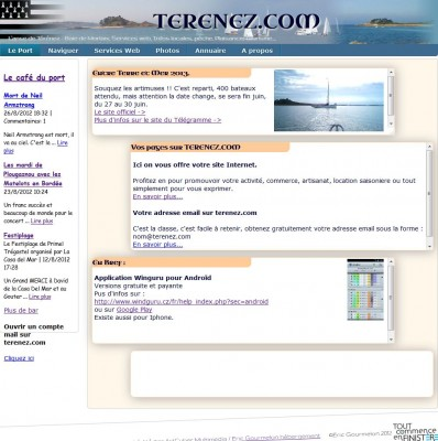 Les sites de Térénez