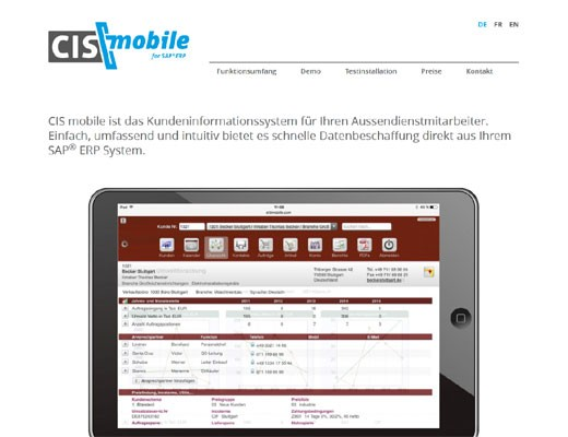 CIS mobile - http://www.erp-mobile.info