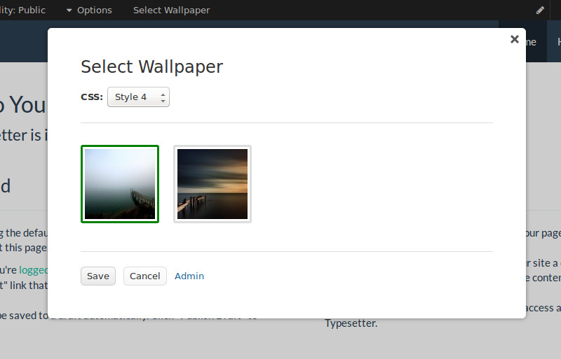 Select Wallpaper Dialog