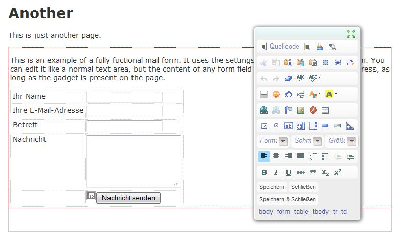Default form and editor