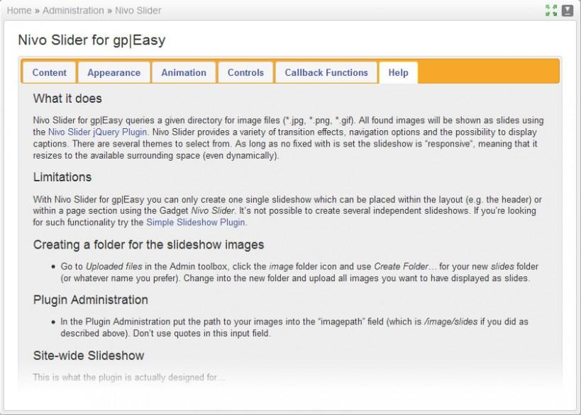 Nivo Slider for gp|Easy « Plugins - Typesetter CMS
