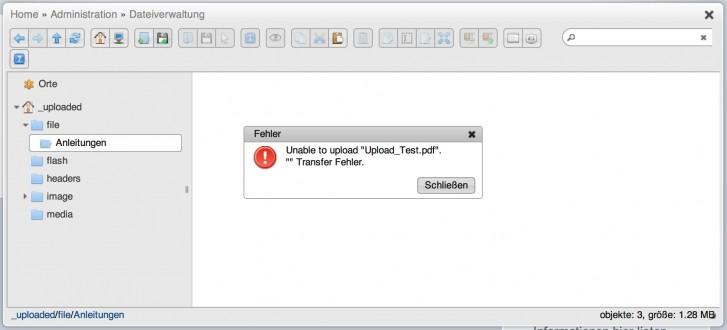File Upload failure